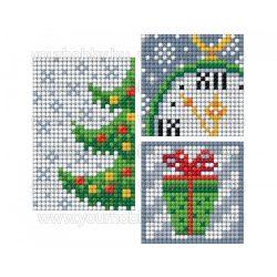 Collection D'Art Gyémántszemes kirakó matrica készlet karácsonyfa, óra, ajándék