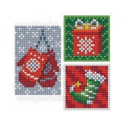 Collection D'Art Gyémántszemes kirakó matrica készlet kesztyű, ajándék, zokni