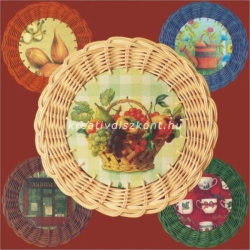 Peddignád kosárfonó készlet Falikép (alátét) natúr színben 21 cm