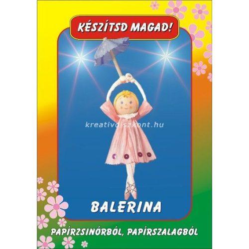 Papírszalag figura Balerína