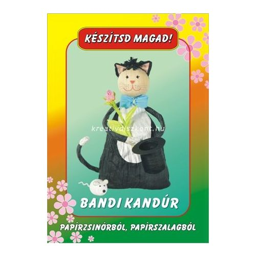 Papírszalag figura Bandi kandúr