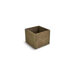 Fa dekorláda rusztikus kocka 13x13x11 cm2351B