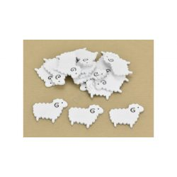 Fa bárány fehér 4x5 cm