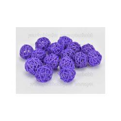 Vessző gömb lila 3 cm 5db/cs