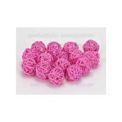 Vessző gömb rózsaszín 3 cm 5db/cs