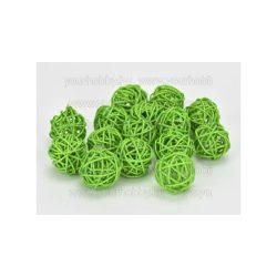 Vessző gömb zöld 3 cm 5db/cs
