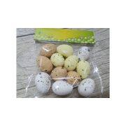 Polisztitol tojás festett természetes színek 3x4 cm 12db/cs