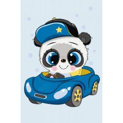 Festés számok után Kicsi panda autózik 20x30 cm