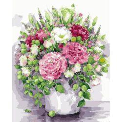 Festés számok után Pompás Pünkösdi rózsa 40x50 cm