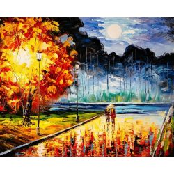 Festős számok után Hangulatos ősz 40x50 cm