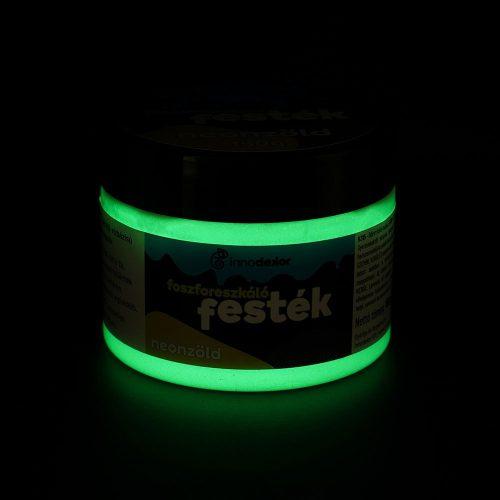 Sötétben világító akrilfesték 150 g neonzöld