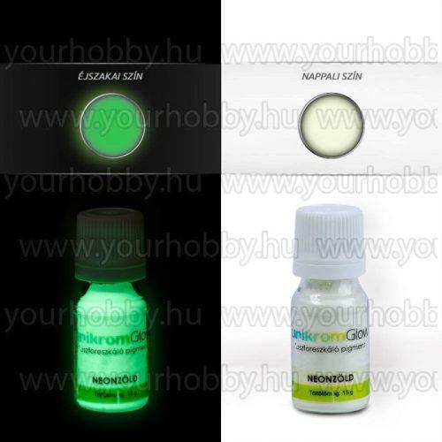 Sötétben világító pigmentpor 15 g neonzöld