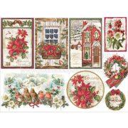 Stamperia Dekupázs rizspapír 48x33 karácsonyi üdvözlet DFS358