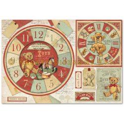 Stamperia Dekupázs rizspapír 48x33 mackóóra DFS359