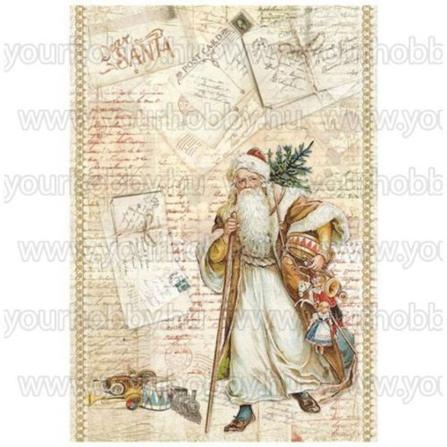 Stamperia Dekupázs rizspapír A4 Télapó DFSA4199