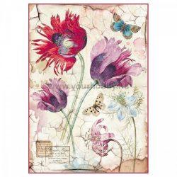 Stamperia Dekupázs  rizspapír - Vintage tulipánok