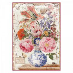 Stamperia Dekupázs rizspapír A4 Vintage váza DFSA4277
