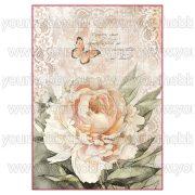 Stampéria Dekupázs rizspapír Vintage rózsa és csipke DFSA4278