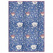 Stamperia Dekupázs  rizspapír - Kék arabeszk virágokkal
