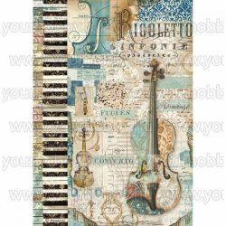 Stamperia Dekupázs rizspapír A4 Zene hegedű DFSA4324
