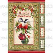Stamperia Dekupázs rizspapír A4 Karácsonyi madarak DFSA4340