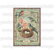 Stamperia Dekupázs rizspapír A4 Vidéki élet madarak DFSA4352