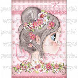 Stamperia Dekupázs rízspapír, Pink tündérke