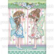 Stamperia Dekupázs rízspapír, Tündérkék pillangókkal