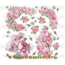 Rizspapír szalvéta, rózsa - DFT183