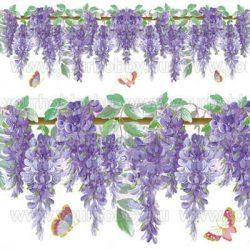 Rizspapír szalvéta, lila akác és lepkék - DFT210