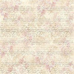 Rizspapír szalvéta, virágok és írás - DFT285