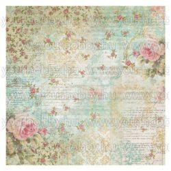 Rizspapír szalvéta, rózsák és írás - DFT304