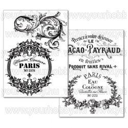 Transzfer papír A4 - Vintage Paris