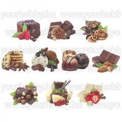 3D motívumok, Csokoládé Paradicsom 10db 6-9 cm