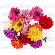 """Dekorációs virágok """"Dahlia 2"""", Ø 5cm, különböző színű, 14 darab"""