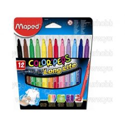 "Filctoll készlet, 1-3,6 mm,  MAPED ""Color'Peps"", 12  szín"