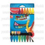 """Olajpasztell kréta, MAPED """"Color'Peps"""", 18 különböző szín"""