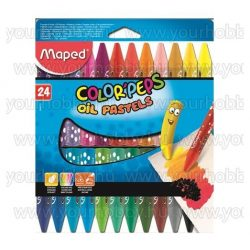 """Olajpasztell kréta, MAPED """"Color'Peps"""", 24 különböző szín"""