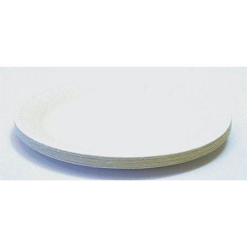 Papírtányér, kerek, 18 cm átmérő 20db/cs