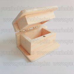 Fa könyvformájú doboz 6x4,4x4 cm mágneses záródással