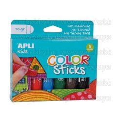 """Tempera stift készlet, APLI """"Kids"""", 6 különböző szín"""