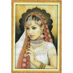 Keresztszemes készlet, Indiai hölgy 38x55 cm