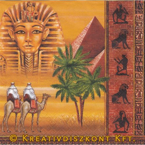 Szalvéta Egyiptomi piramisok és szarkofág