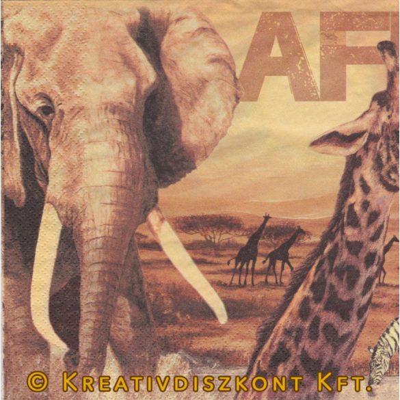 Szalvéta Afrikai állatok