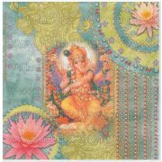 Szalvéta Ganesha és Lakshmi