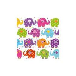 Szalvéták Szerencse elefántok