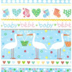 Szalvéta, baby, kék gólyák