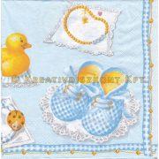 Szalvéta Kék babacipő