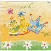 Szalvéta Születésnapi csákó sárga