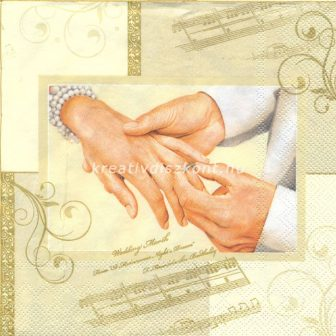 Szalvéta, Családi események , Esküvői kéz